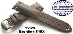 Breitling 515X Retro Kalbleder Dornschliessenband 22-20 mm Braun