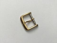 Omega Dornschliesse 14 mm Edelstahl vergoldet