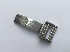 Ebel Faltschliesse für Lederbänder 12 mm Edelstahl poliert