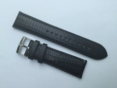 Emporio Armani Lederband Kroko Optik 22/20 mm schwarz