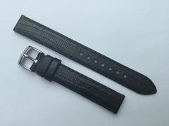 Emporio Armani Damen Lederband 14/14 mm Schwarz