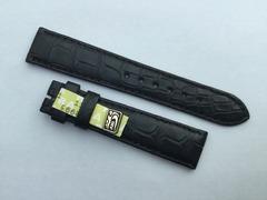 Chronoswiss Uhrenarmband Alligatorenleder 16/14 mm Schwarz