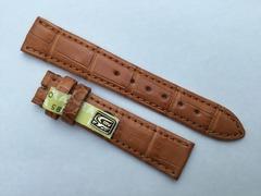 Chronoswiss Uhrenarmband Alligatorenleder 16/14 mm Hellbraun