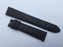 Chronoswiss Lederband 16/14 mm Strauß Schwarz
