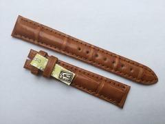Chronoswiss Lederband Alligator Braun 16/14 mm
