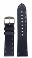 hanhart Uhrenarmband »Uhrenarmband PIONEER Kalbsleder blau (22 mm)«
