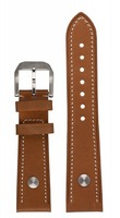 hanhart Uhrenarmband »Uhrenarmband PIONEER Kalbsleder hellbraun (23 mm)«