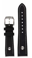 hanhart Uhrenarmband »Uhrenarmband PIONEER Kalbsleder schwarz (23 mm)«