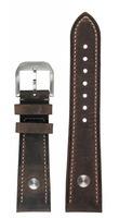 hanhart Uhrenarmband »Uhrenarmband PIONEER Leder dunkelbraun (20 mm)«