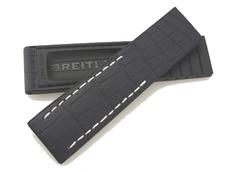 Breitling 22-20 mm Faltschließenband Kroko-Kautschuk 296S für Drücker-FS