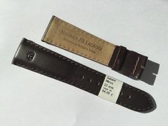 Maurice Lacroix Miros Lederband Kalb 22/18 mm Dunkelbraun