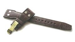 IWC - 55429 Echt Alligator Nietenuhrenarmband 22/18 mm braun
