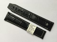 Maurice Lacroix Lederband Pontos 20/18 mm Schwarz helle Naht XL
