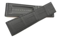 Breitling 24-20 mm Faltschließenband Kroko-Kautschuk 265S für Drücker-FS