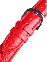 Bossart universal Ersatzband Leder 20 mm rot, croco