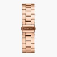 Nordgreen 3-Link-Armband Edelstahl - Roségold - 40mm