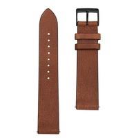 Sternglas Uhrenarmband Vintage Mahagoni 20 mm Schliesse Schwarz Gebürstet