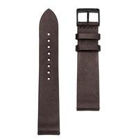 Sternglas Uhrenarmband Vintage Mokka 20 mm Schliesse Schwarz gebürstet