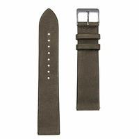 Sternglas Uhrenarmband Vintage Natogrün 20 mm Schliesse Silber poliert