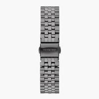 Nordgreen 5-Link-Armband Edelstahl - Anthrazit - 28mm