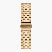 Nordgreen 5-Link-Armband Edelstahl - Gold - 28mm