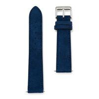 Circula Velours-Lederband Blau mit Naht